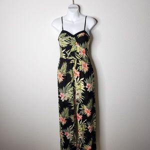 Xhilaration Floral Black Jumpsuit